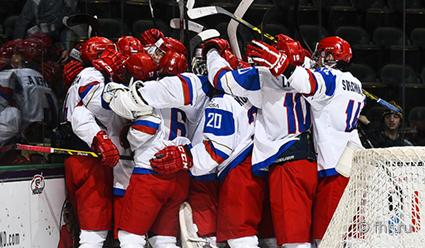 Сборная Российской Федерации одержала первую победу наЧМ