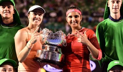 Мартина Хингис и Саня Мирза выиграли третий турнир 'Большого шлема&#39 подряд