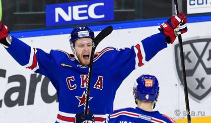 СКА завершил серию 1/4 финала Кубка Гагарина с 'Динамо&#39 победой в Санкт Петербурге