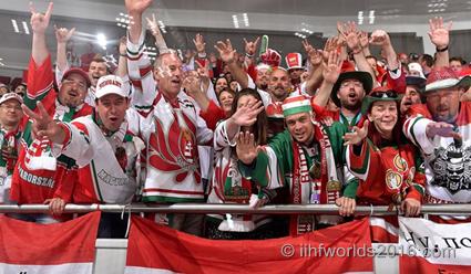 Более 100 тысяч болельщиков посетили матчи ЧМ-2016 по хоккею в Санкт-Петербурге