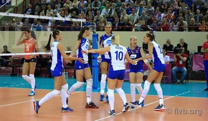 Русские волейболистки выиграли укоманды Бельгии вматче Мирового «Гран-при»