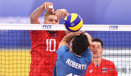 Волейболисты сборной Российской Федерации лидировали в заключительном туреЧМ вЧехии