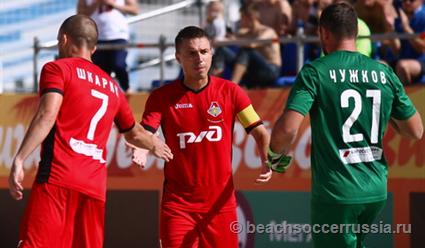 Сборная Беларуси  обыграла команду Швейцарии вматче этапа Евролиги попляжному футболу