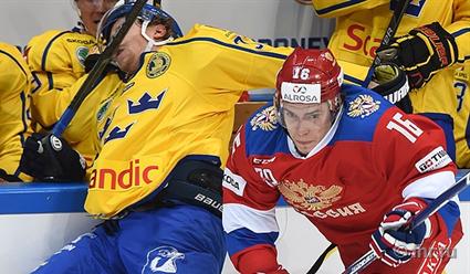 Русские хоккеисты проиграли шведам вматче Кубка Первого канала