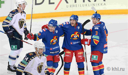 Столичное «Динамо» обыграли «Йокерит» вматче КХЛ