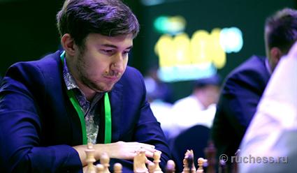 Гроссмейстер Сергей Карякин захватил лидерство на чемпионате мира по блицу