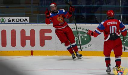Российская Федерация  одолела  Швецию впервом матче наюниорскомЧМ похоккею