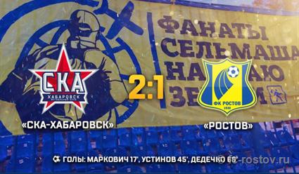 «СКА-Хабаровск» обыграл «Ростов»