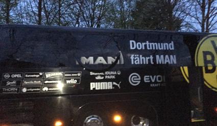 Уавтобуса скомандой футбольного клуба «Боруссия» прогремел взрыв