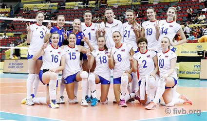 Волейболистки сборной Российской Федерации проиграли команде Китая наВсемирном кубке чемпионов