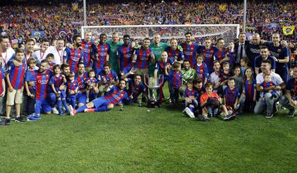 «Барселона» стала первой за64 года командой, выигравшей три Кубка Испании кряду