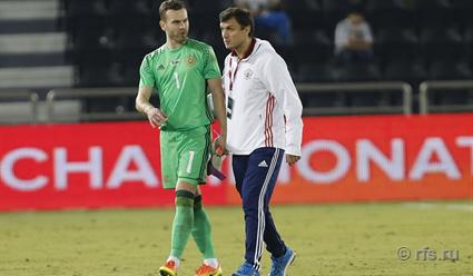 Сборная Российской Федерации пофутболу проведет сегодня товарищеский матч скомандой Катара