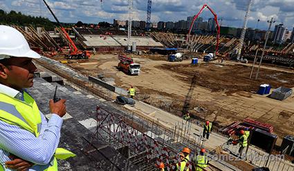 Готовность стадиона «Мордовия Арена» составляет 63%
