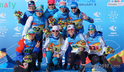Русские лыжники стали победителями эстафеты наУниверсиаде
