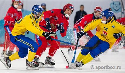 Хоккей смячом. Сборная Российской Федерации вполуфинале чемпионата мира