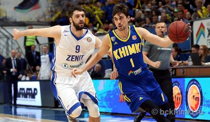 Баскетболисты «Зенита» уступили «Химкам» в 4-м матче полуфинала Единой лиги ВТБ