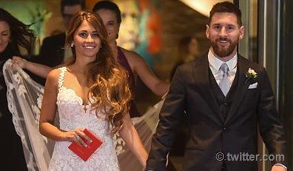 Свадебное одеяние невесты Месси было доставлено под вооружённым конвоем