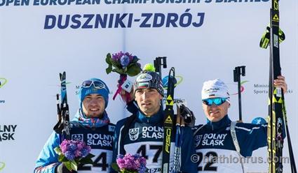 Биатлонист Логинов завоевал золотоЧЕ вгонке преследования