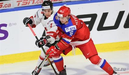 Сборная РФ обыграла команду Швейцарии намолодежномЧМ похоккею