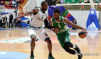 УНИКС навыезде уступил «Панатинаикосу» вматче 23-го тура баскетбольной Евролиги