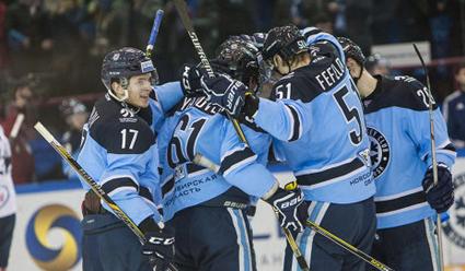 39;Сибирь&#39 переиграла 'Слован&#39 в матче регулярного чемпионата КХЛ