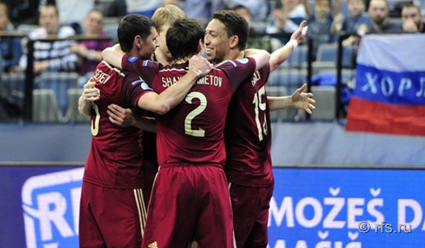 Сборная России по мини-футболу одолела команду Азербайджана в 1/4 финала чемпионата Европы